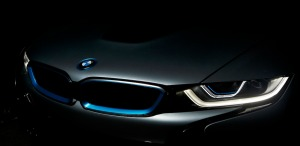 Shereen Shabnam laser light on the BMW i8 headlight technology