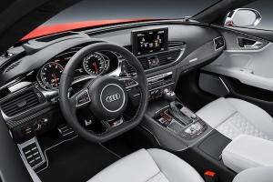 Standaufnahme    Farbe: Misanorot    Verbrauchsangaben Audi RS 7 Sportback 4.0 TFSI quattro:Kraftstoffverbrauch kombiniert in l/100 km: 9,8;CO2-Emission kombiniert in g/km: 229