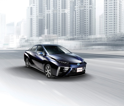Mirai fuel cell vehicle (FCV) in the UAE